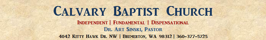 Calvary Baptist Church, Bremerton, WA